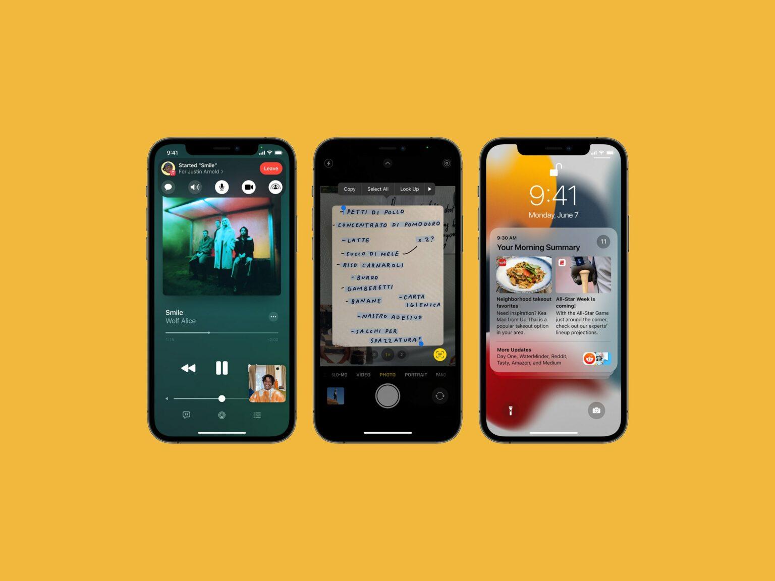 iOS 15 que Apple